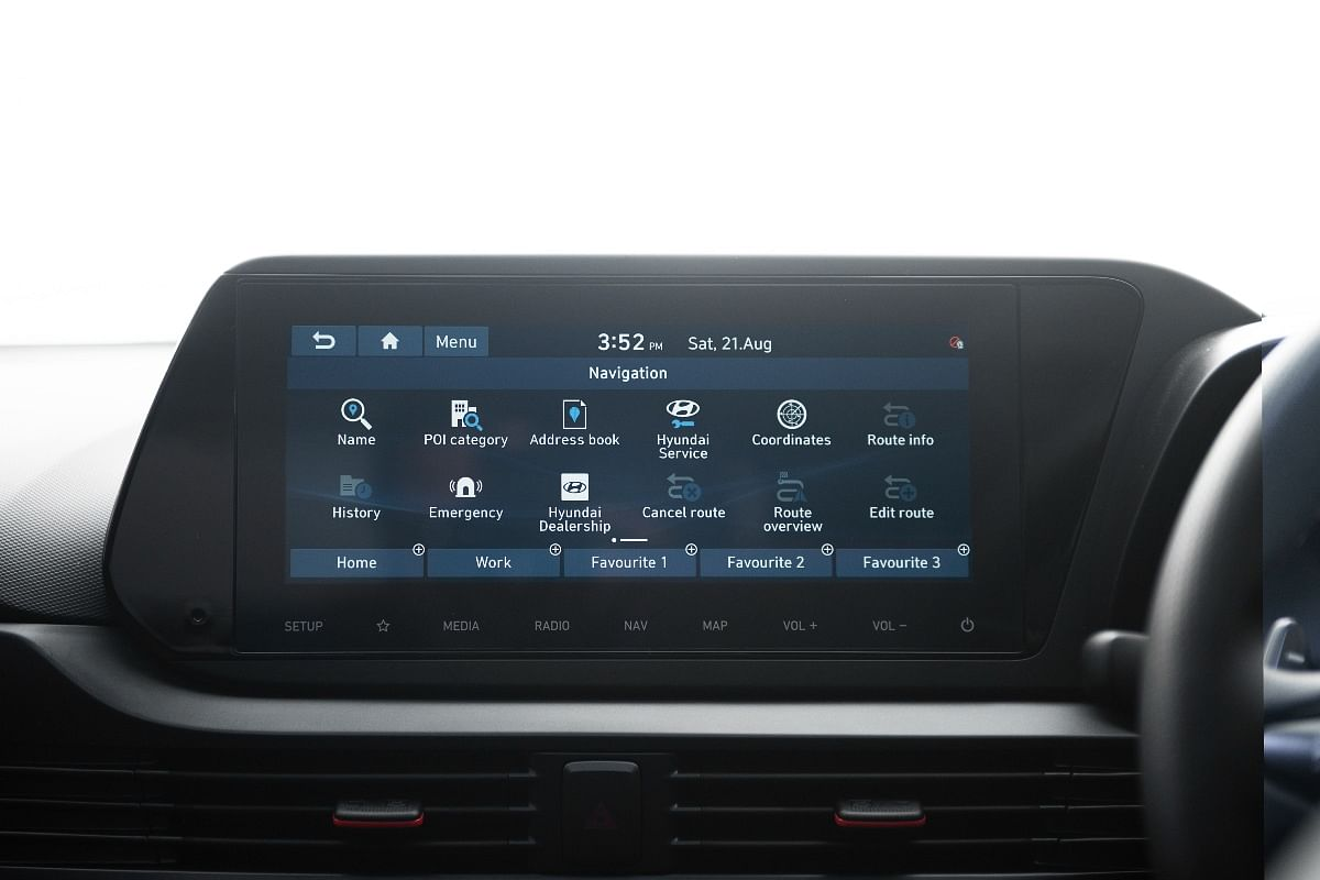 The 10.25-inch touchscreen display boasts of a variety of information