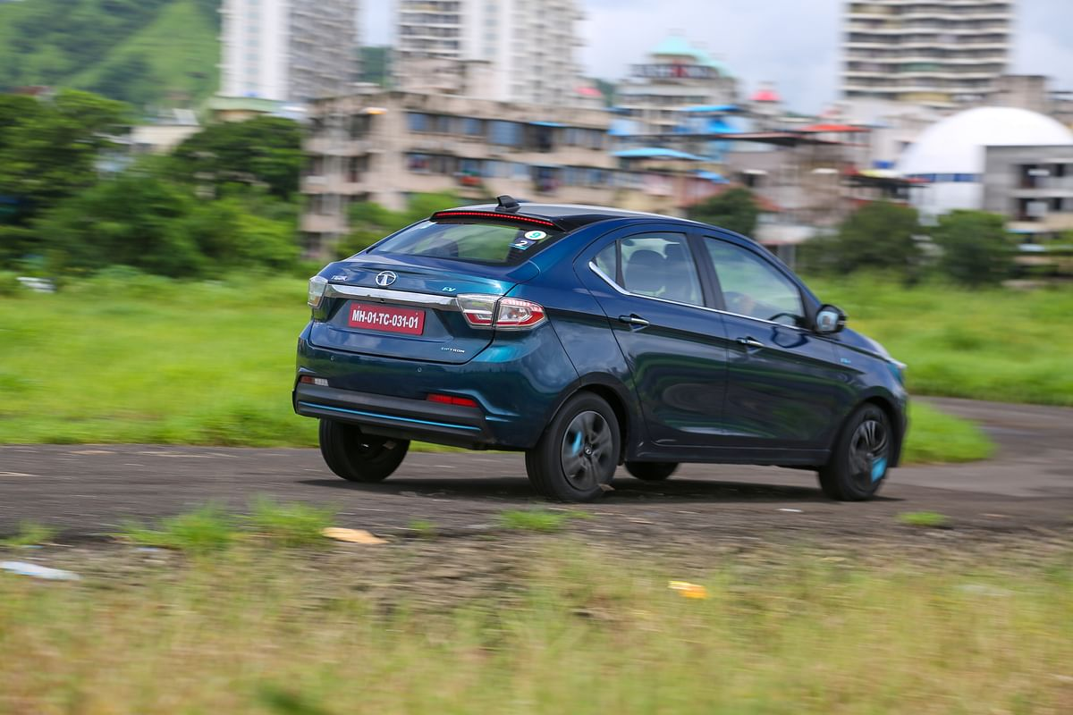 The Tigor EV may not be an enthusiast's car, but it is still fun to chuck around corners