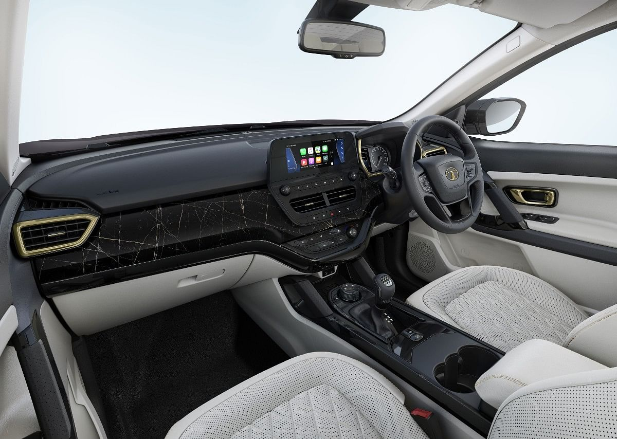 Dashboard and interior of Black Gold option