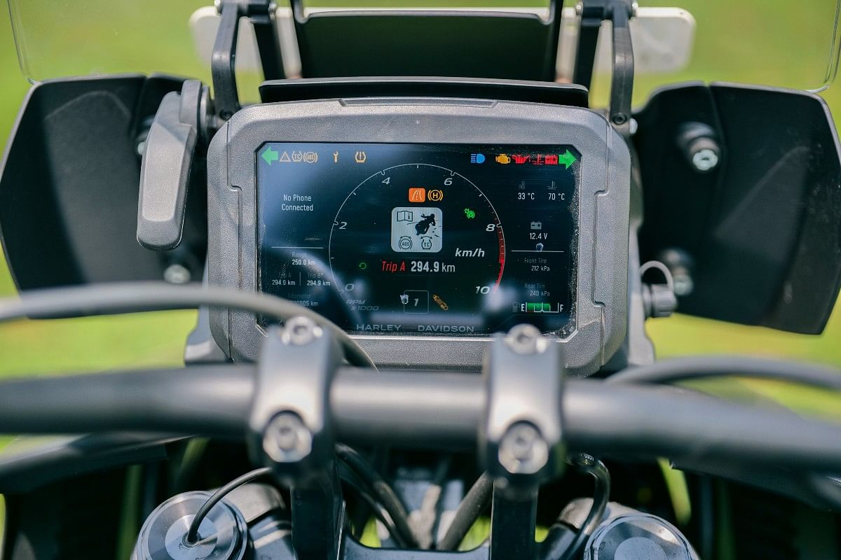 The Pan America 1250 gets an easy to read TFT touchscreen