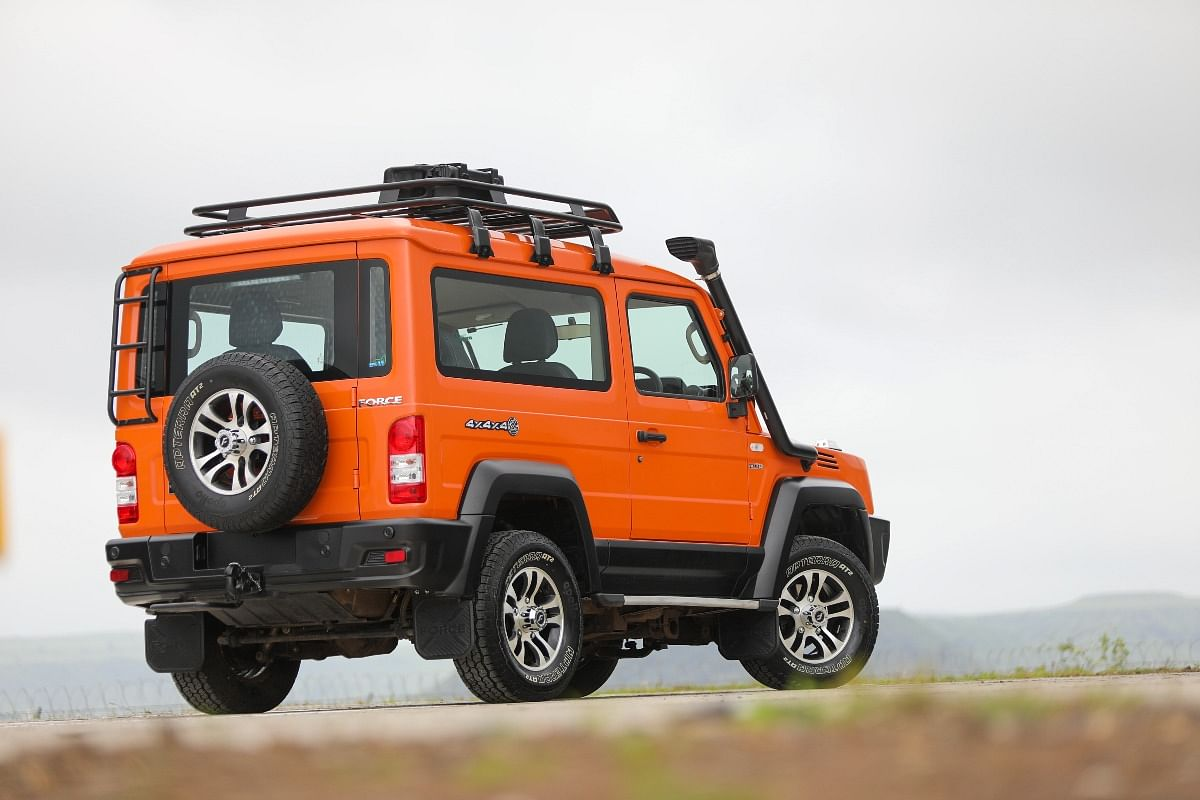 Rear ladder, roof rails, and luggage carrier will be available on the 2021 Force Gurkha as accessories