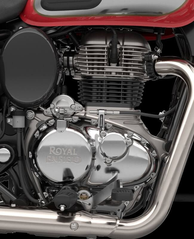 The Classic 350 gets the same engine as the Royal Enfield Meteor 350