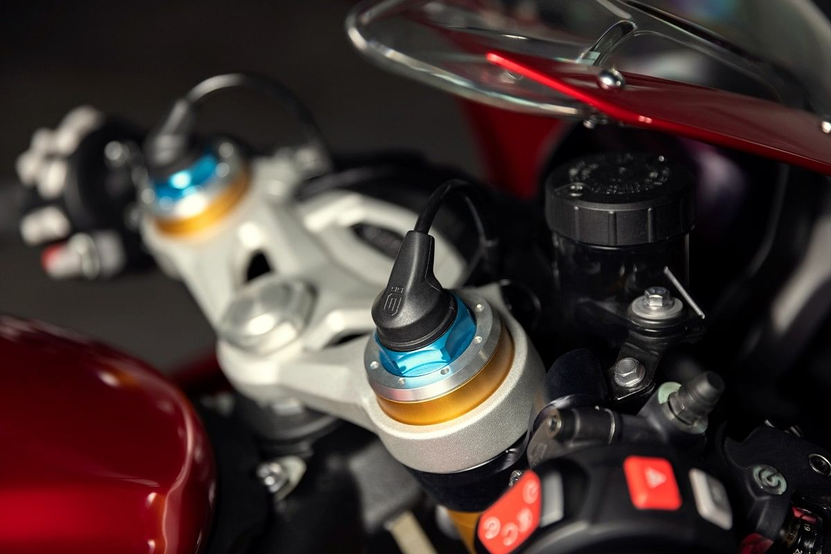 Ohlins' S-EC 2.0 OBTi system controls compression and rebound damping electronically