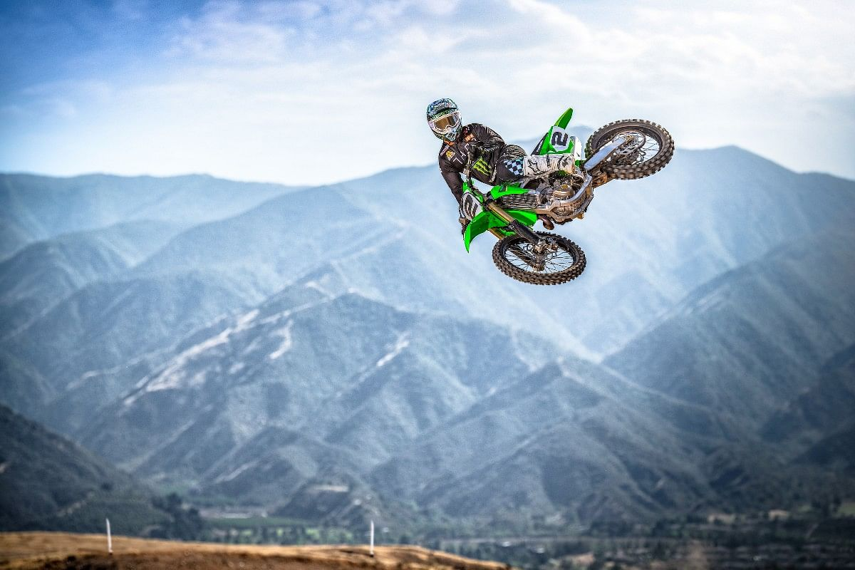 On the road, off the road, or no roads, the Kawasaki KX takes you just about everywhere!