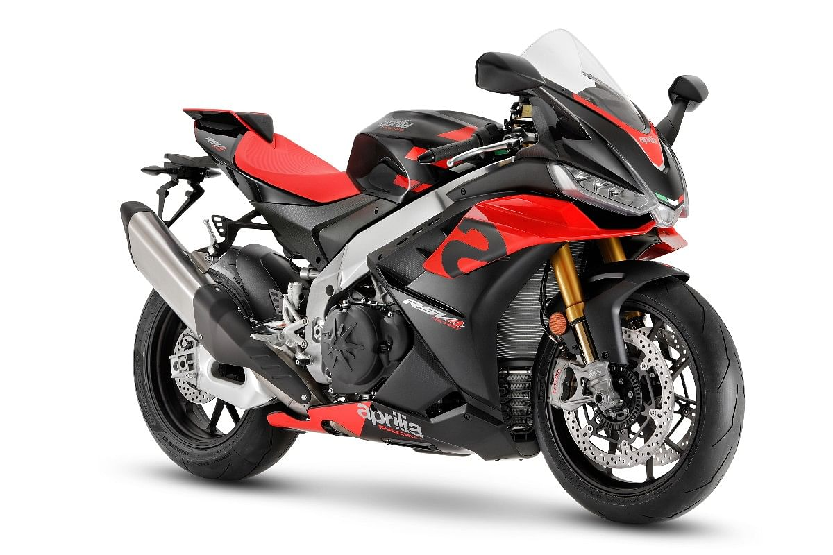 The Aprilia RSV4 now receives a bump in power from the bigger 1099cc engine