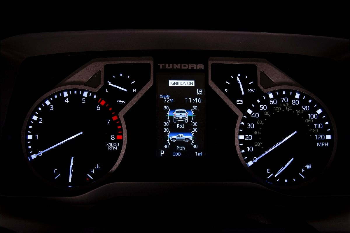Standard intrument cluster of the new Tundra