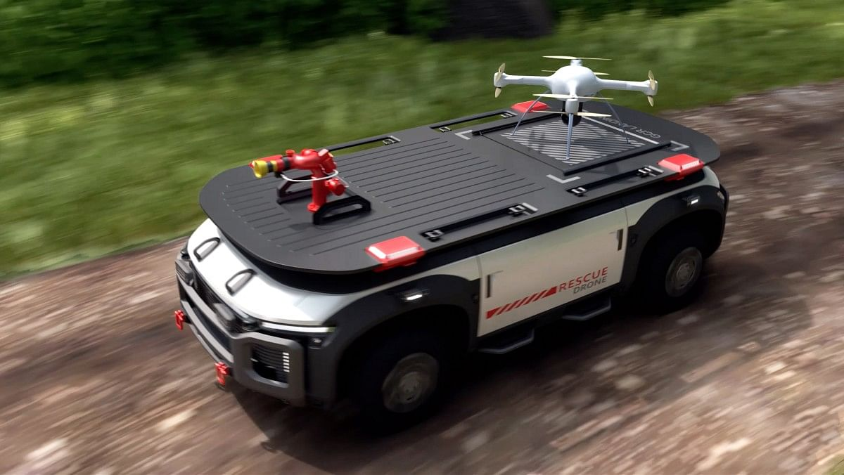 Hydrogen powered rescue drone concept