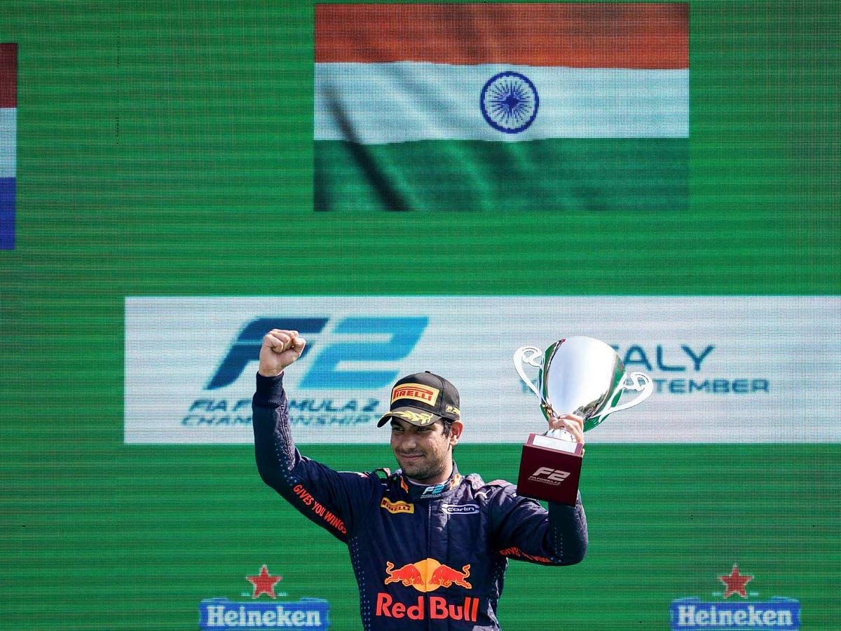 Jehan Daruvala wins at Monza in Formula 2 Sprint Race 2