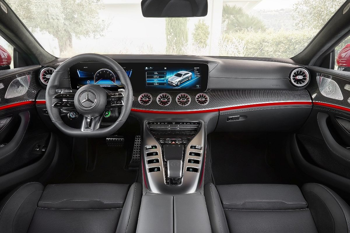 Typical sporty but luxurious environs on the GT 63 S E Performance