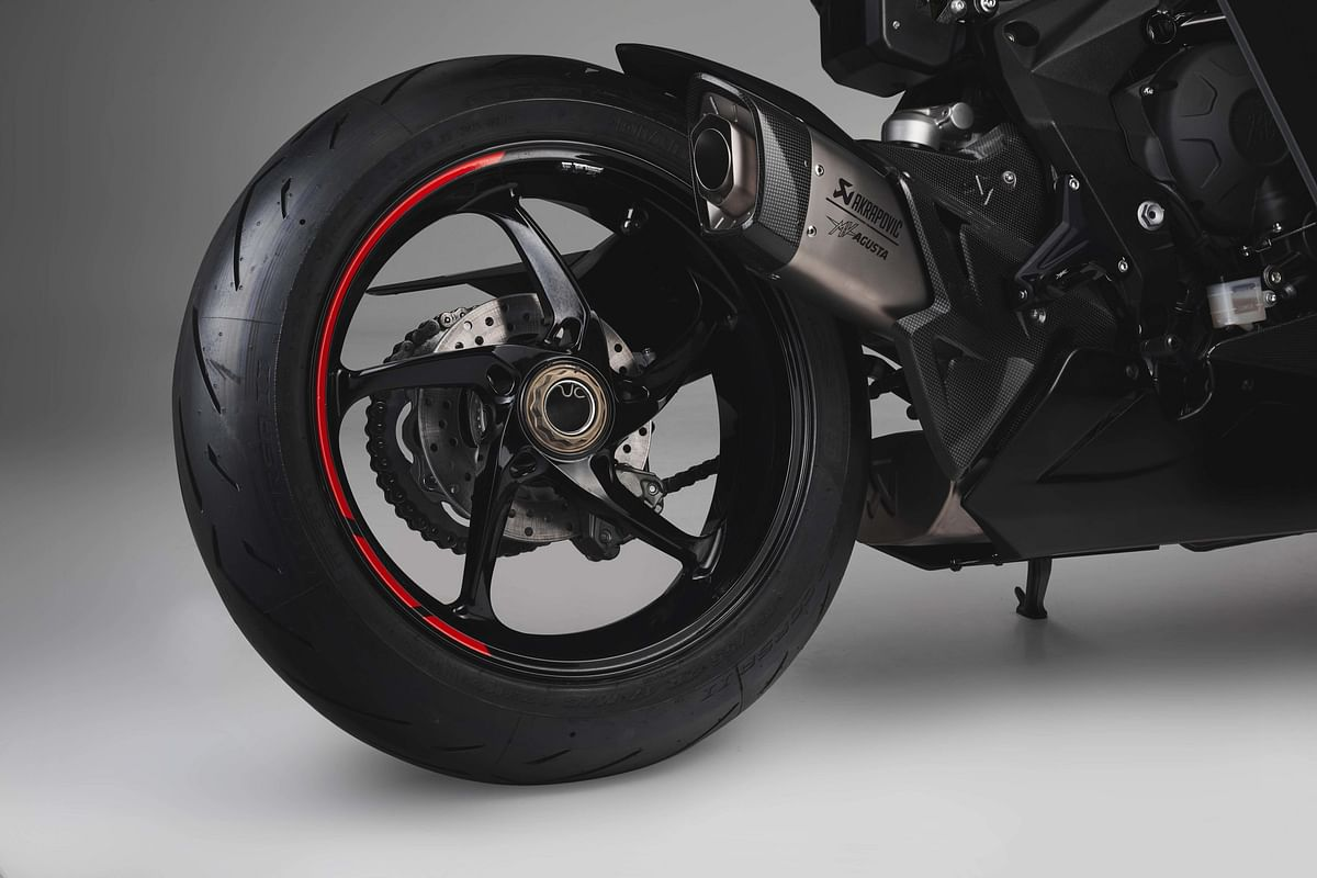 The new rear wheel is seven percent lighter