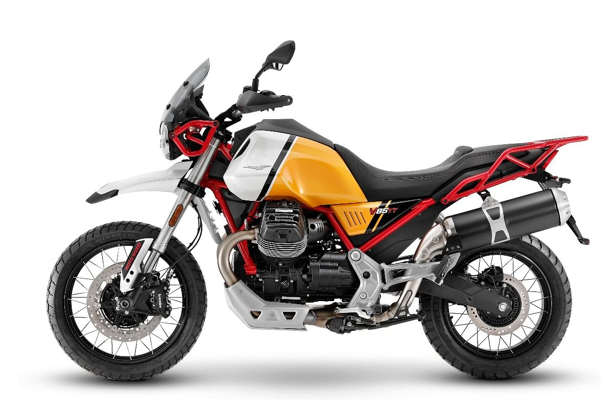 The V85 TT gets an 853cc air-cooled engine, V-twin engine