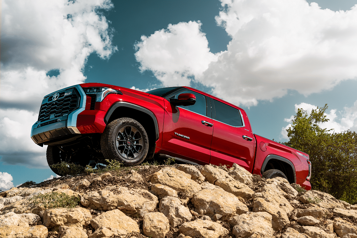 The new Tundra pickup truck can be have with 18- or 20-inch wheels