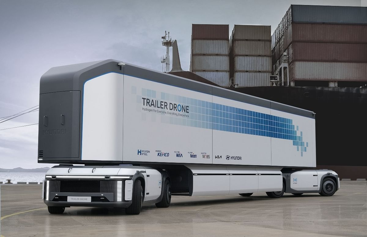 Trailer drone concept by Hyundai Motor Group