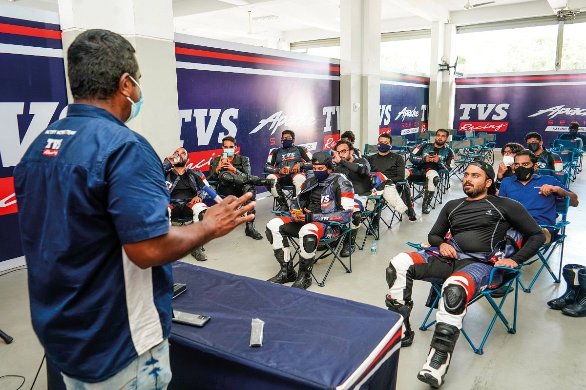 In the TVS Racing Training Academy we were taught a lot of things including the importance of gear, track rules and much more