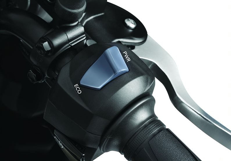 A major talking point of the TVS Raider is the two riding modes on offer — Eco and Power