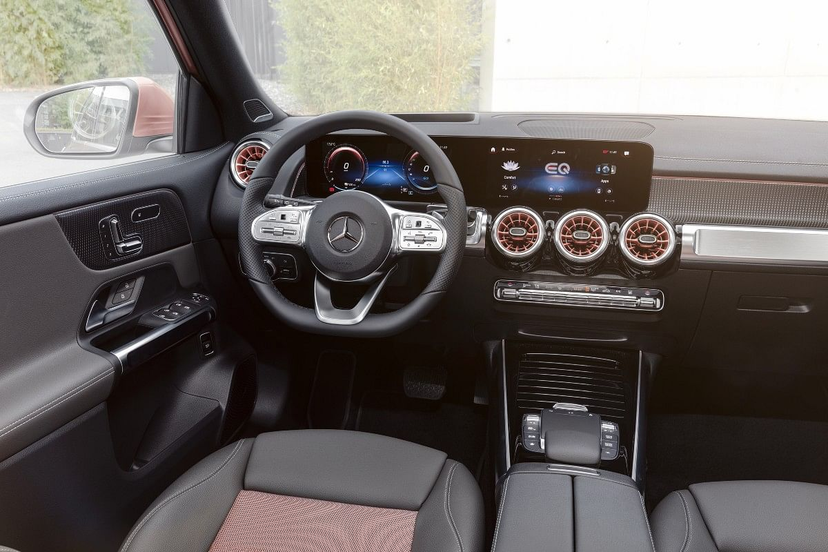 The EQB receives two 10.3-inch screens — one for the instrument cluster and the other for the infotainment system