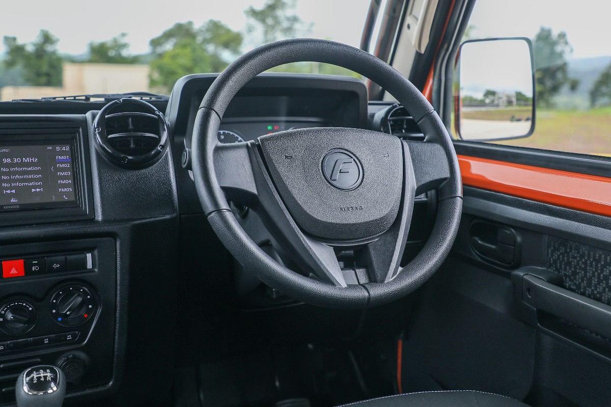 The steering wheel gets tilt and telescopic adjustability