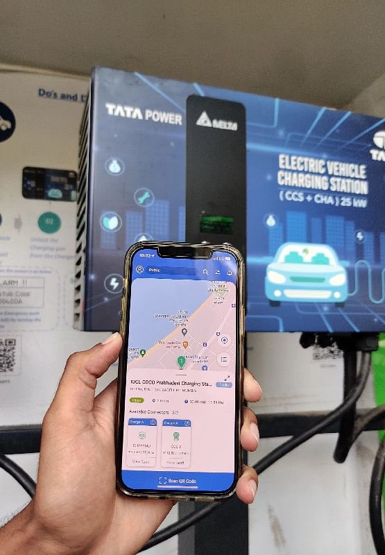 The Tata Power EZ charge app is useful when looking for charging stations