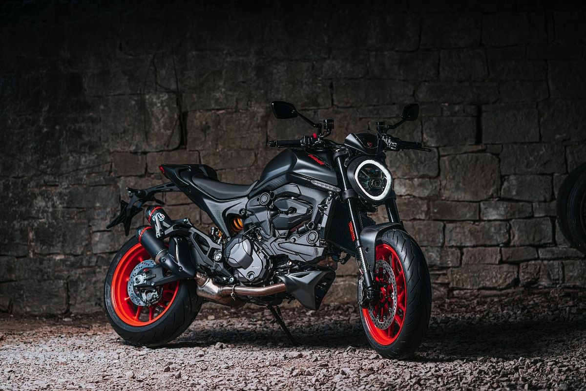 The new Ducati Monster is 14kg lighter than the outgoing model