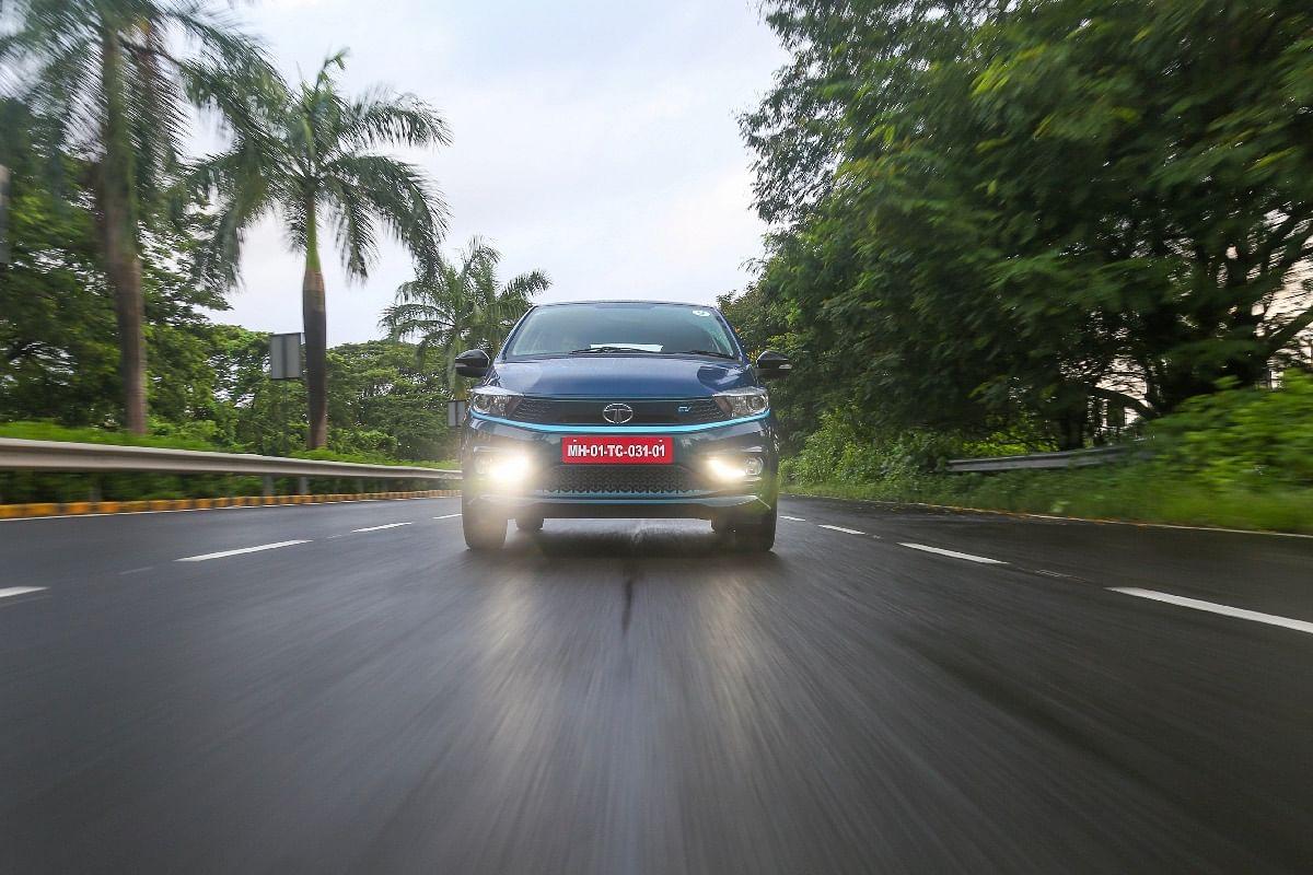 The Tata Tigor EV accelerates smoothly in the regular drive mode