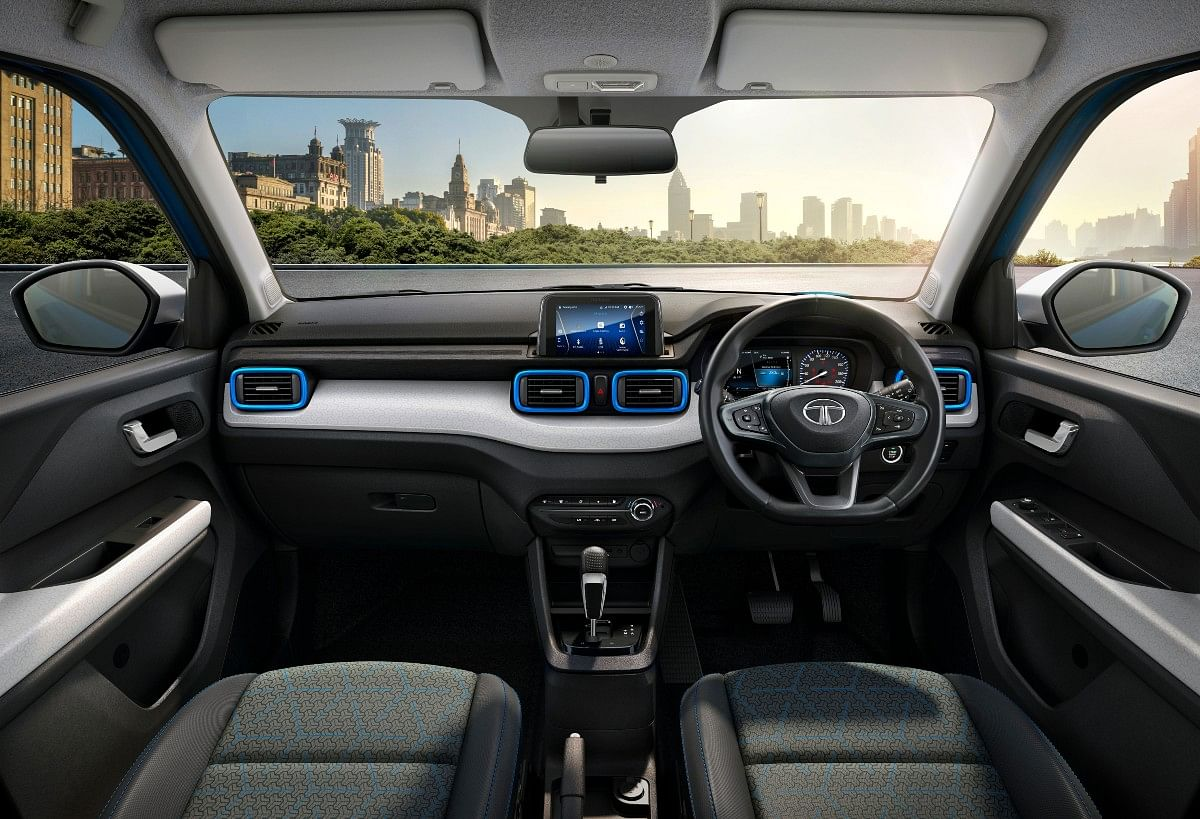 The Tata Punch gets a dual-tone interior with 7-inch infotainment touchscreen