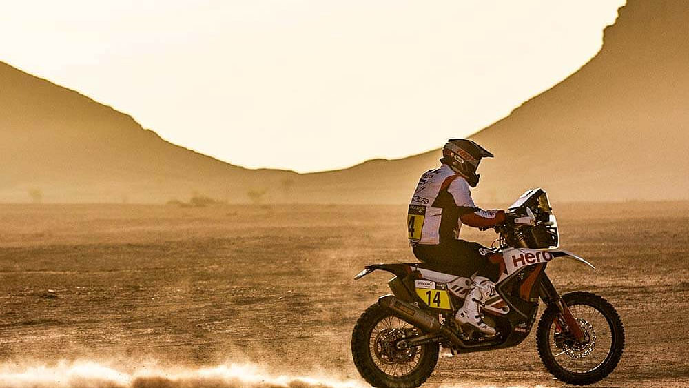 Technical problems hit Hero MotoSports at 2021 Rallye Du Maroc