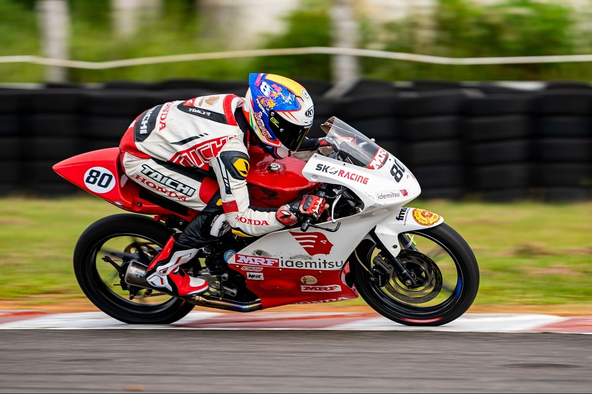 There are five races organised in this One-Make Championship class which is organised by two different manufacturers, TVS and Honda.
