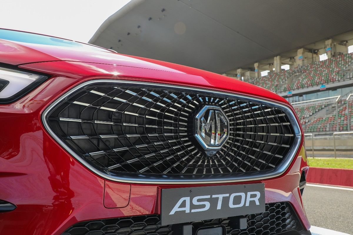 The front celestial grille gives off a 3D effect with the MG logo in the centre