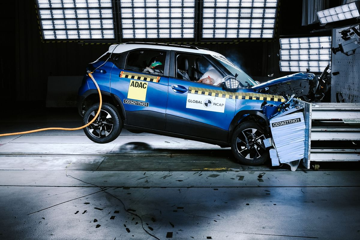 Tata Punch scores five-stars at the Global NCAP safety crash test