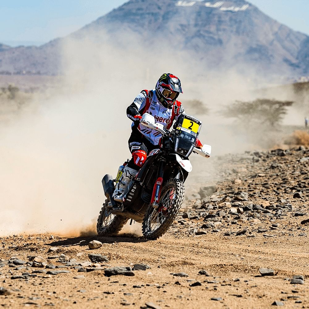 Franco Caimi rode the stage carefully keeping the bigger picture of the rally in mind.