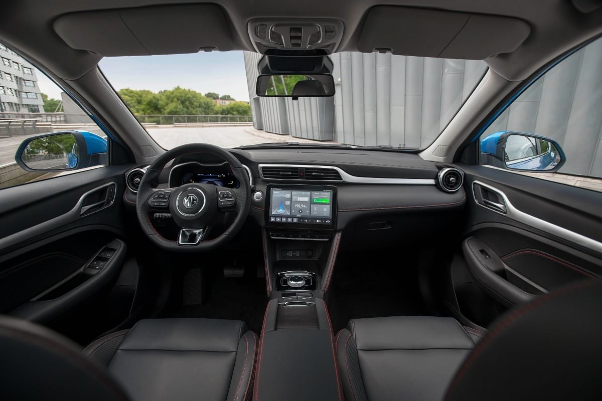 The interiors haven't changed too much on the MG ZS EV facelift...