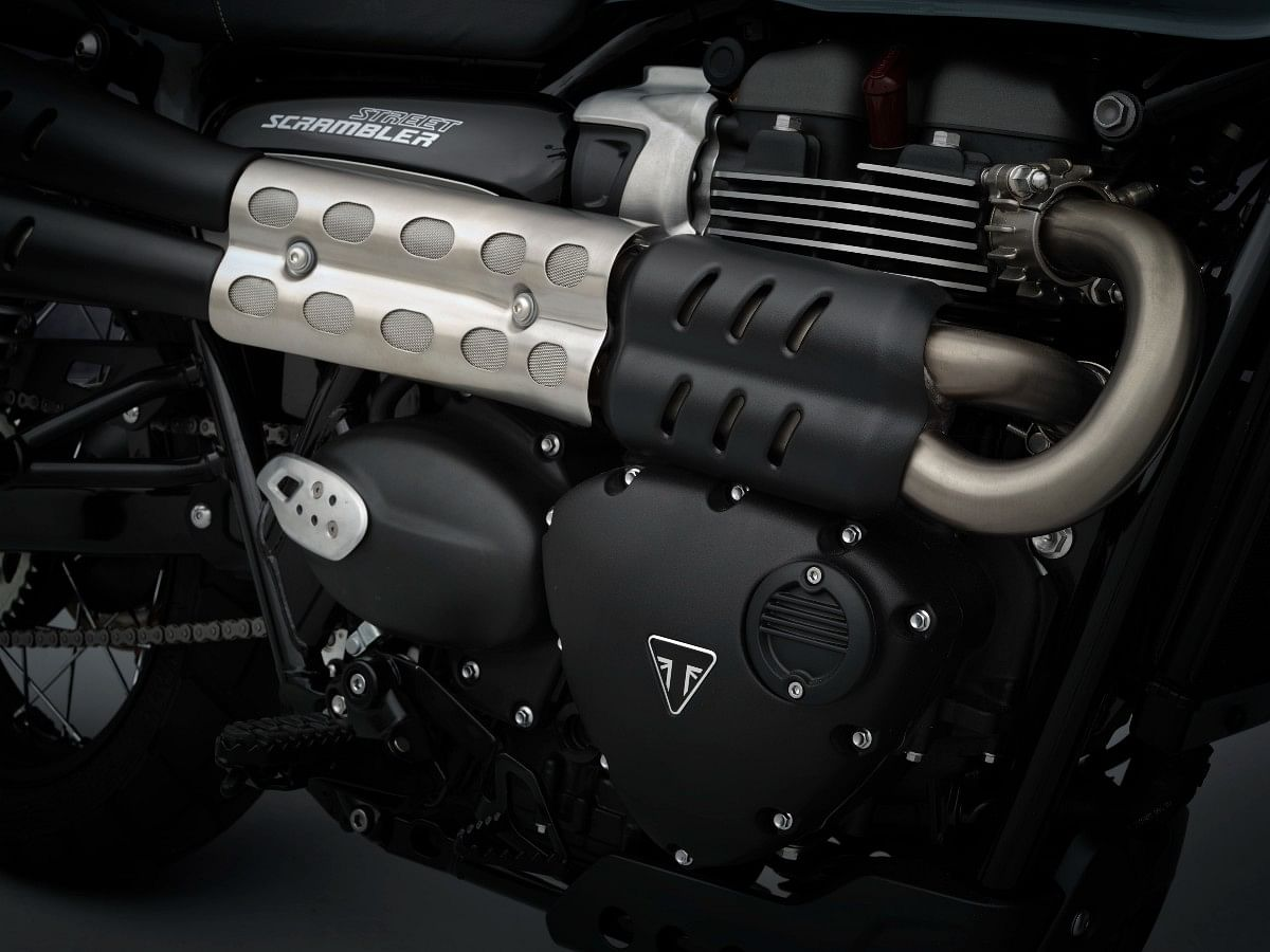 The Street Scrambler is powered by Bonnevelle's 900cc engine