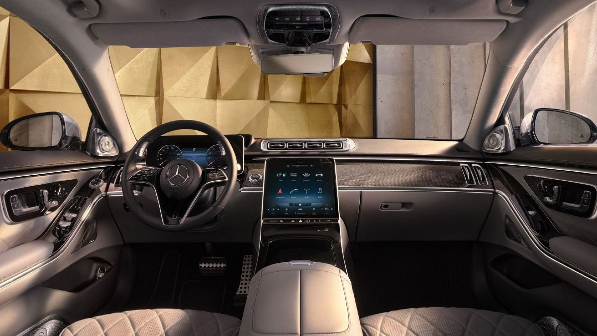 The central 12.8-inch OLED infotainment screen in the Mercedes-Benz S-Class is best in class