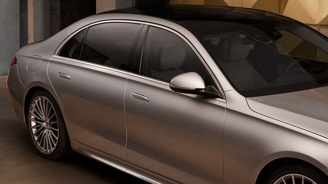 The flush door handles on the Mercedes-Benz S-Class gives a unique touch to the overall sophistication of the car