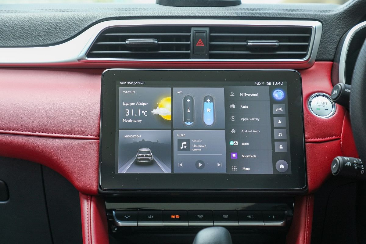 The massive 10.1-inch infotainment screen sits large in the MG Astor