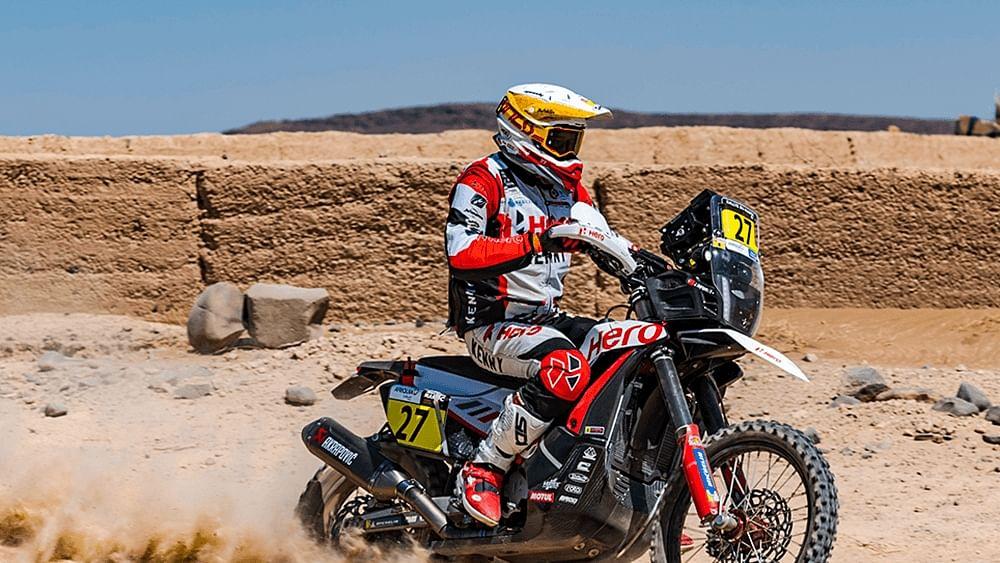Hero MotoSports wins Prologue Stage at the 2021 Rallye Du Maroc
