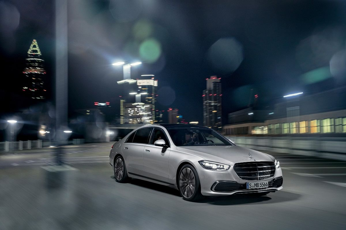 The Mercedes-Benz S-Class flaunts a clean and smooth design