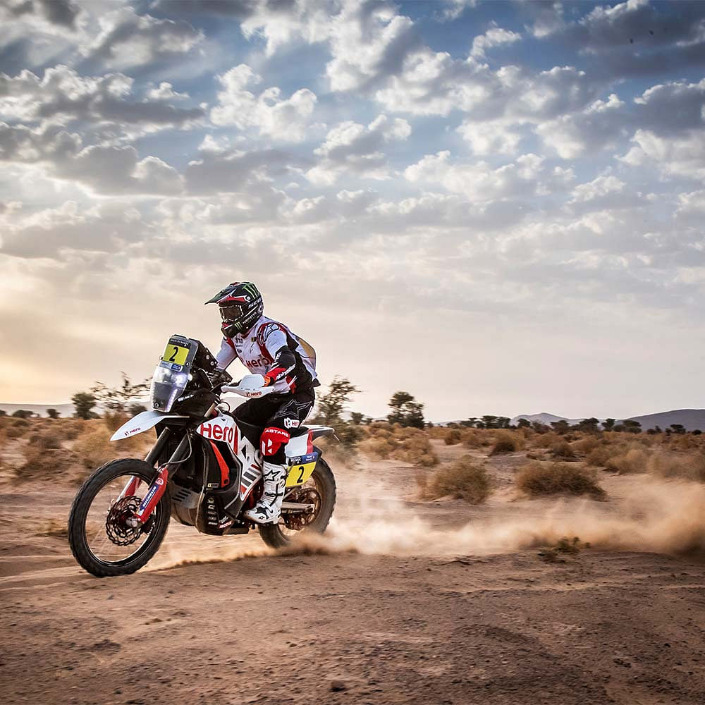 After finishing second in Stage 3, Sebastian Buhler was the second rider to start Stage 4. And that meant Buhler had trouble navigating through the dunes of the Sahara Desert, in which he nearly got lost on multiple occasions.