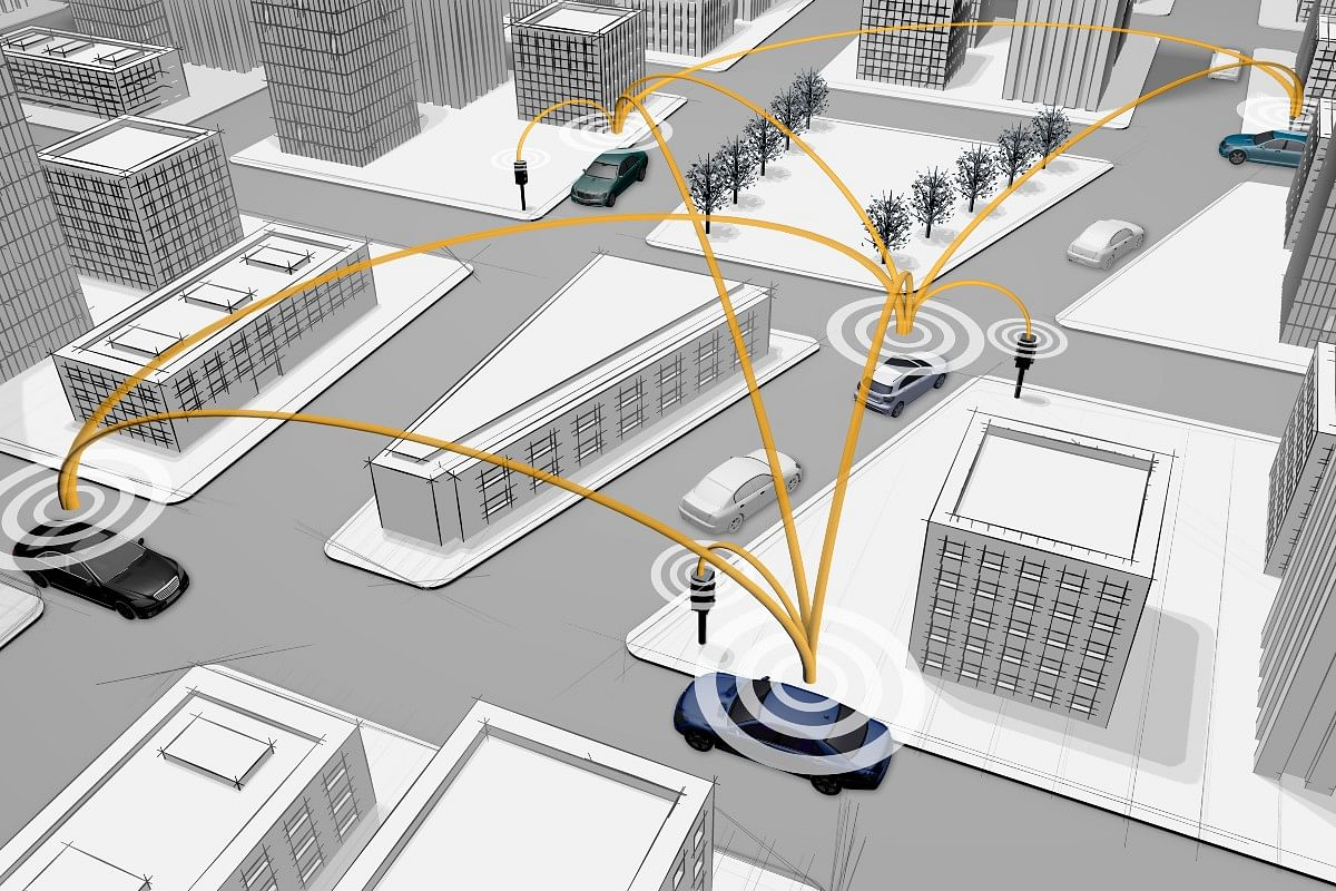 Globally, the Car-to-X tech can communicate with road infrastructure