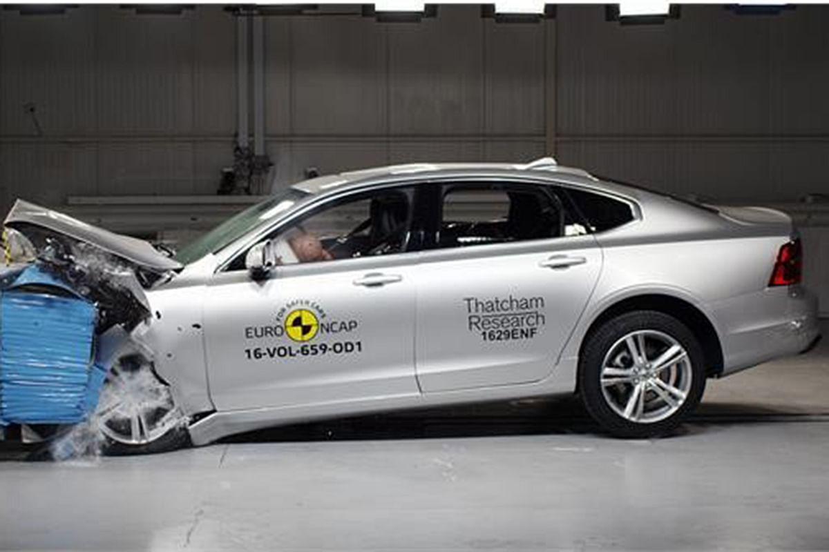 Volvo S90 scores 5-star rating in Euro NCAP crash tests