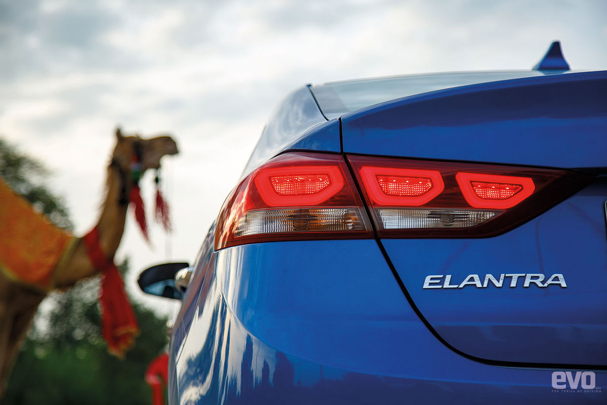 The Elantra gets LED lights, both in the front and the rear