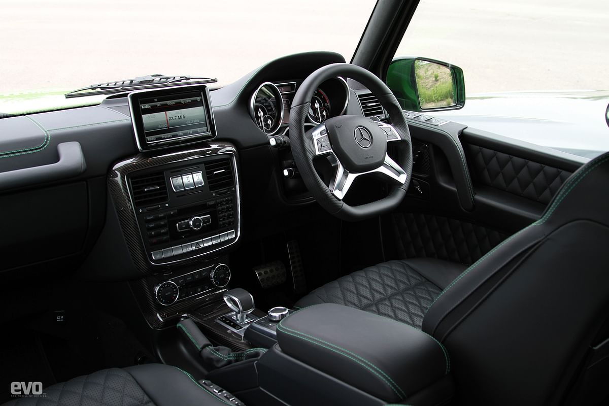 Despite itsrugged SUV shape thecabin is luxurious