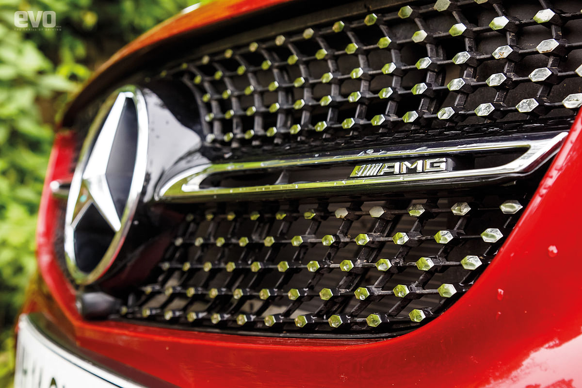 Diamond grille with AMG badge adds to the presence