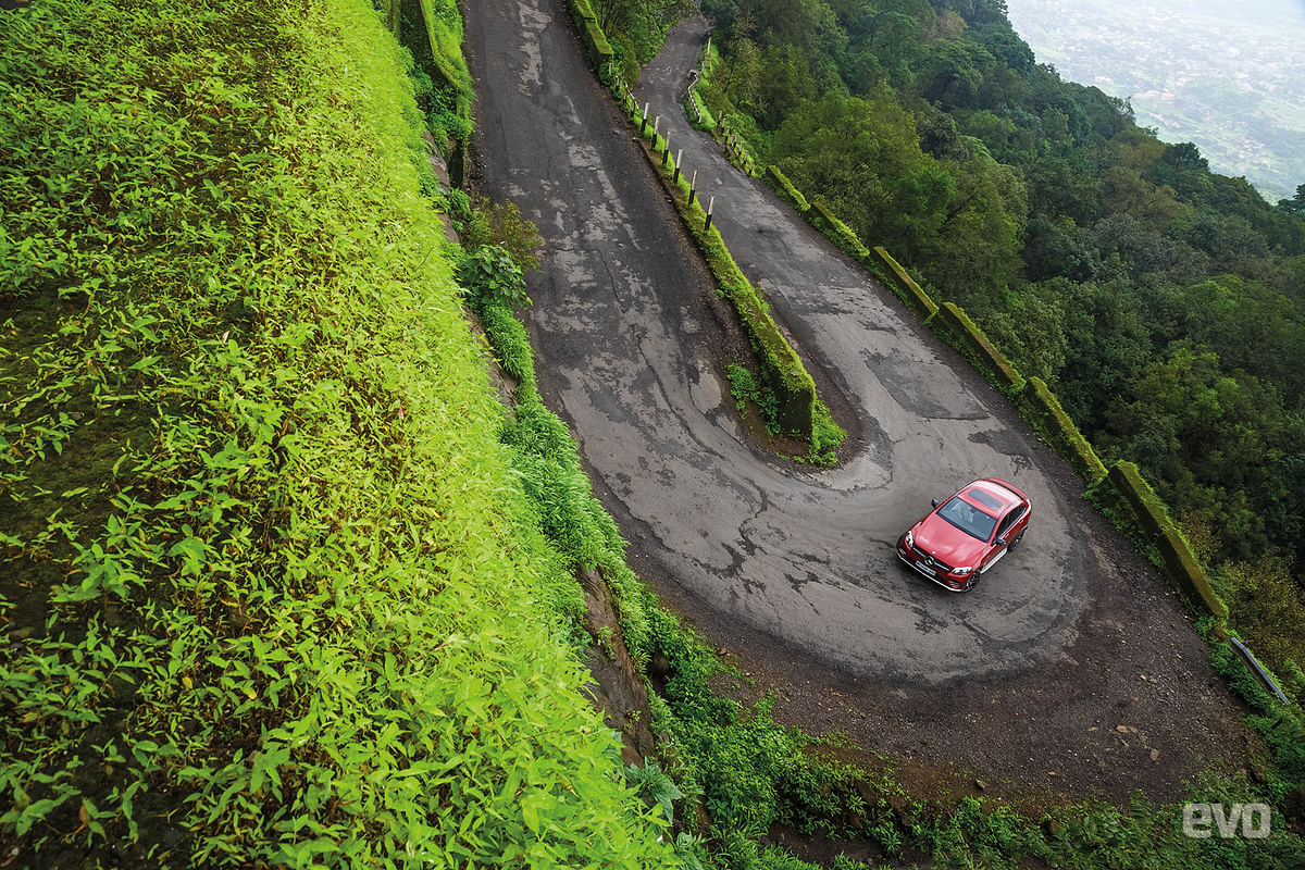 There are some stunning spots like the lush green landscape down below from the final hairpin of the hill climb