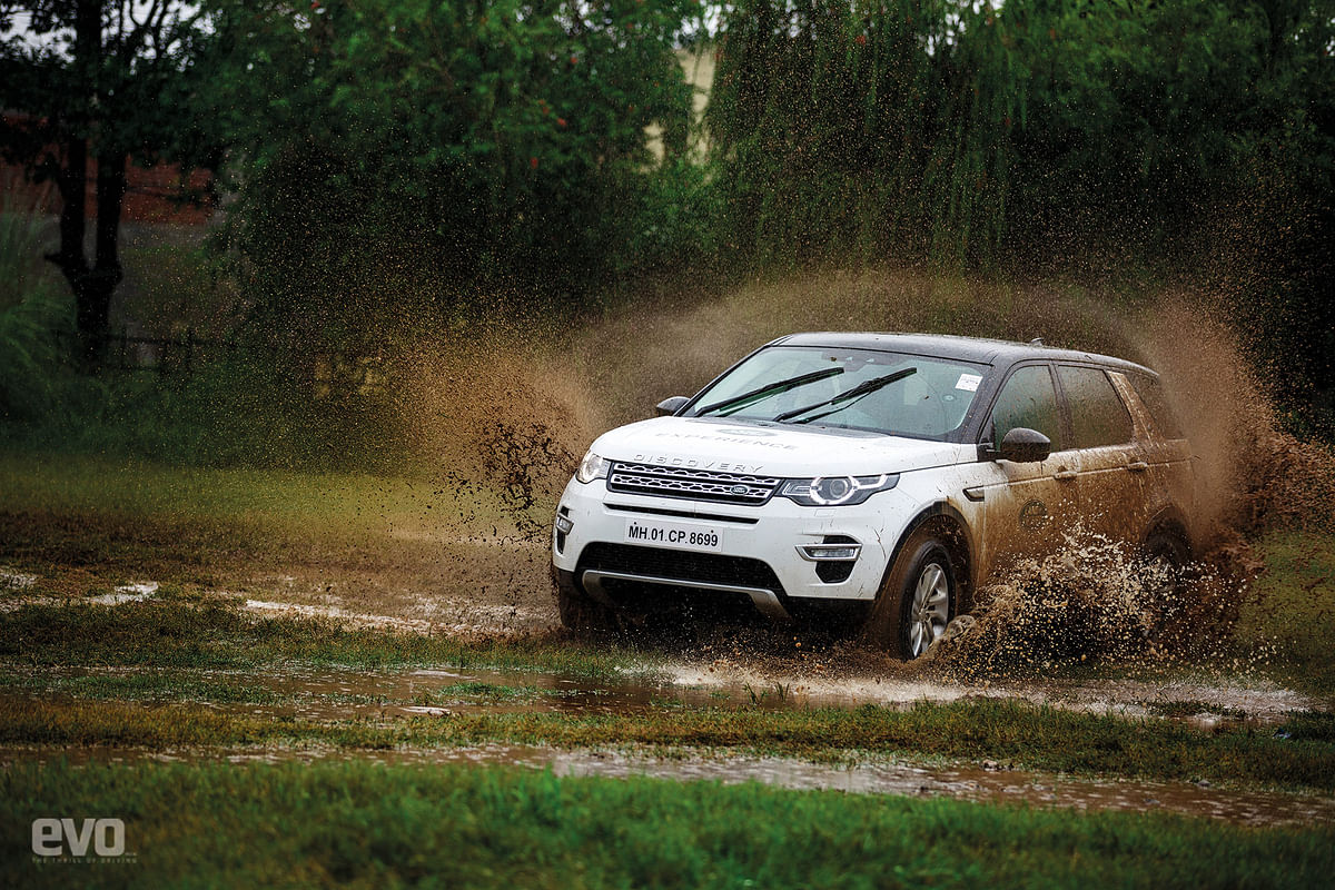 Hardcore off-roading in a Land Rover Discovery Sport