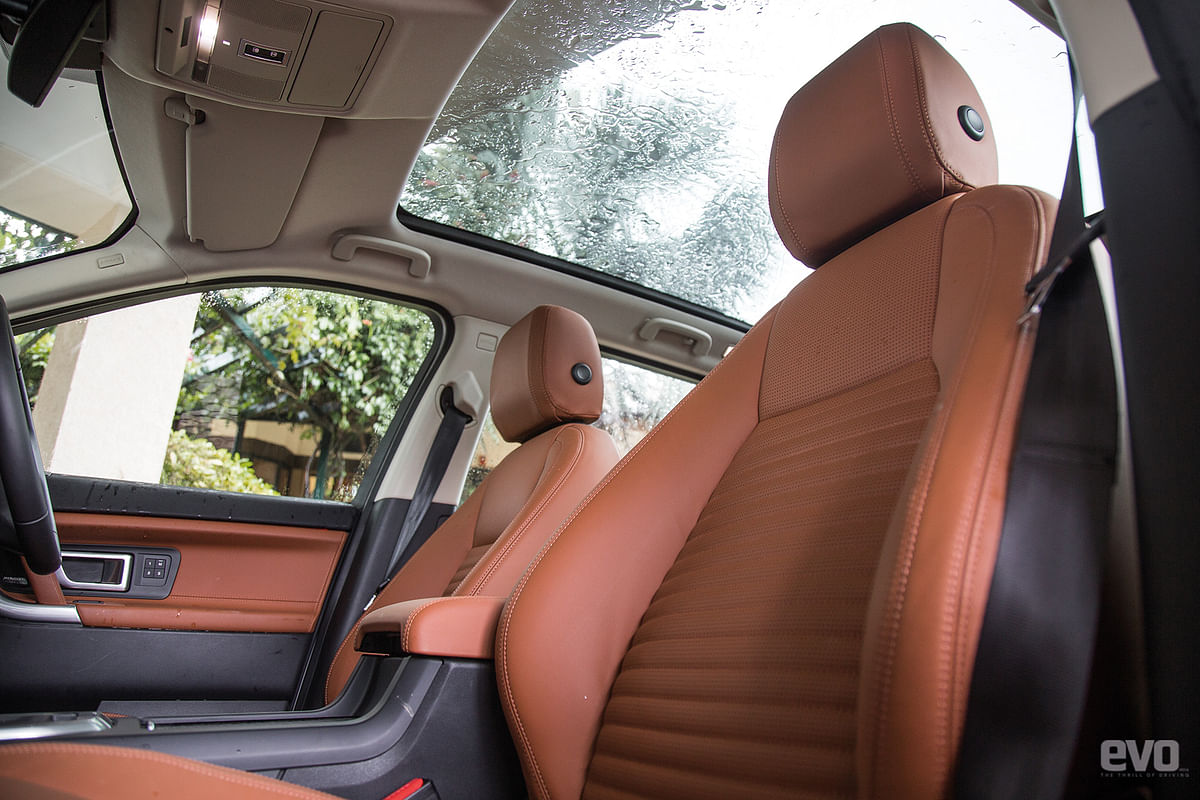 Panoramic sunroof makes the cabin feel roomy