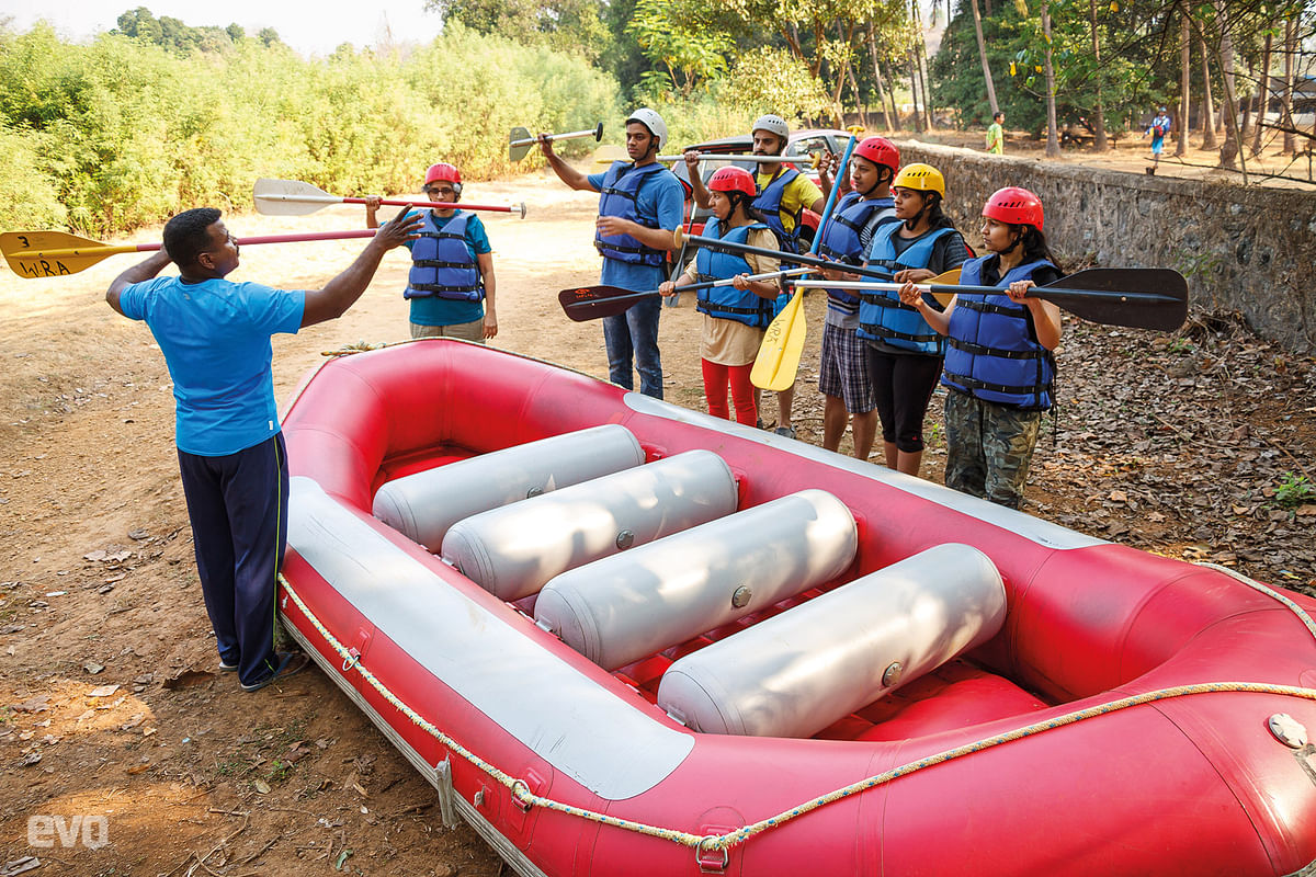 """""""Neverlet go of the end of thepaddle, it might hit someone in the face,""""said our instructor."""