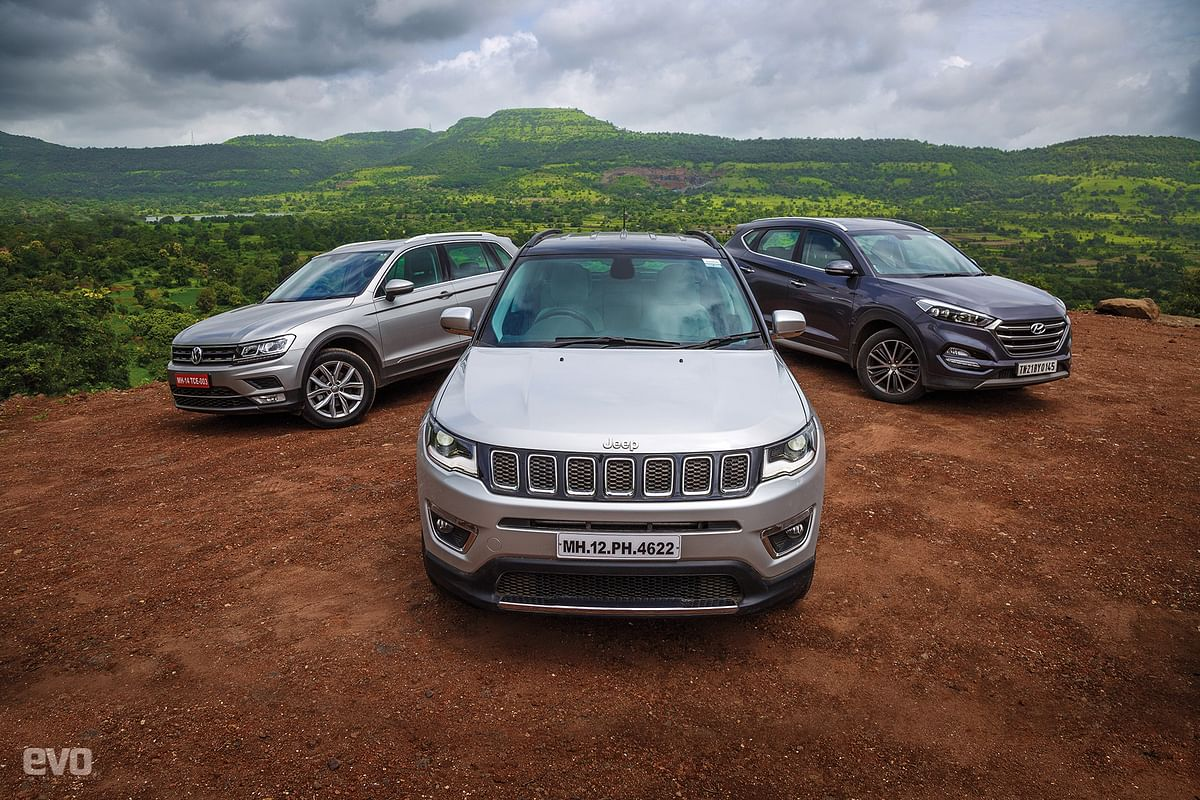Comparo: Jeep Compass vs Volkswagen Tiguan vs Hyundai Tucson