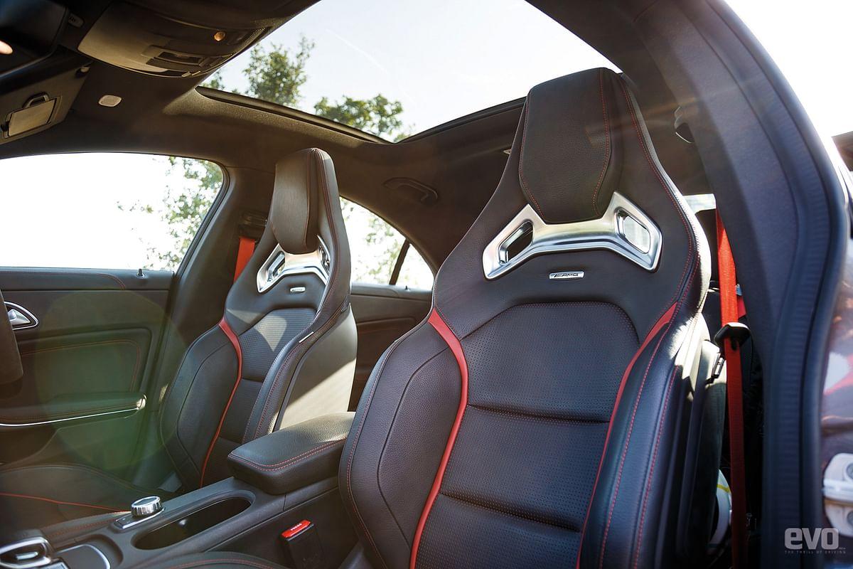Bolstered Recaro seats are built for spirited driving