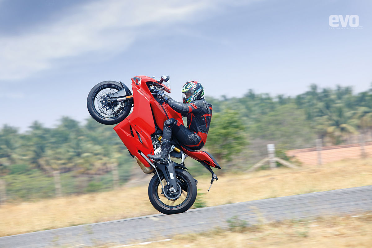 You'll have to switch offa dozen controls to popa wheelie on the 959